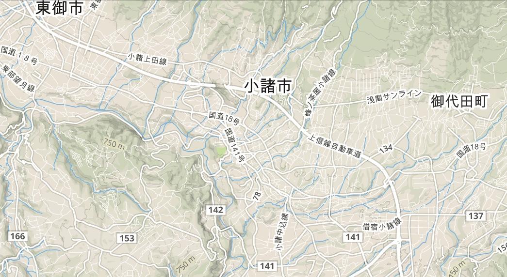 小諸市内配達MAP