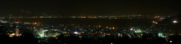 塩尻峠から諏訪湖の夜景