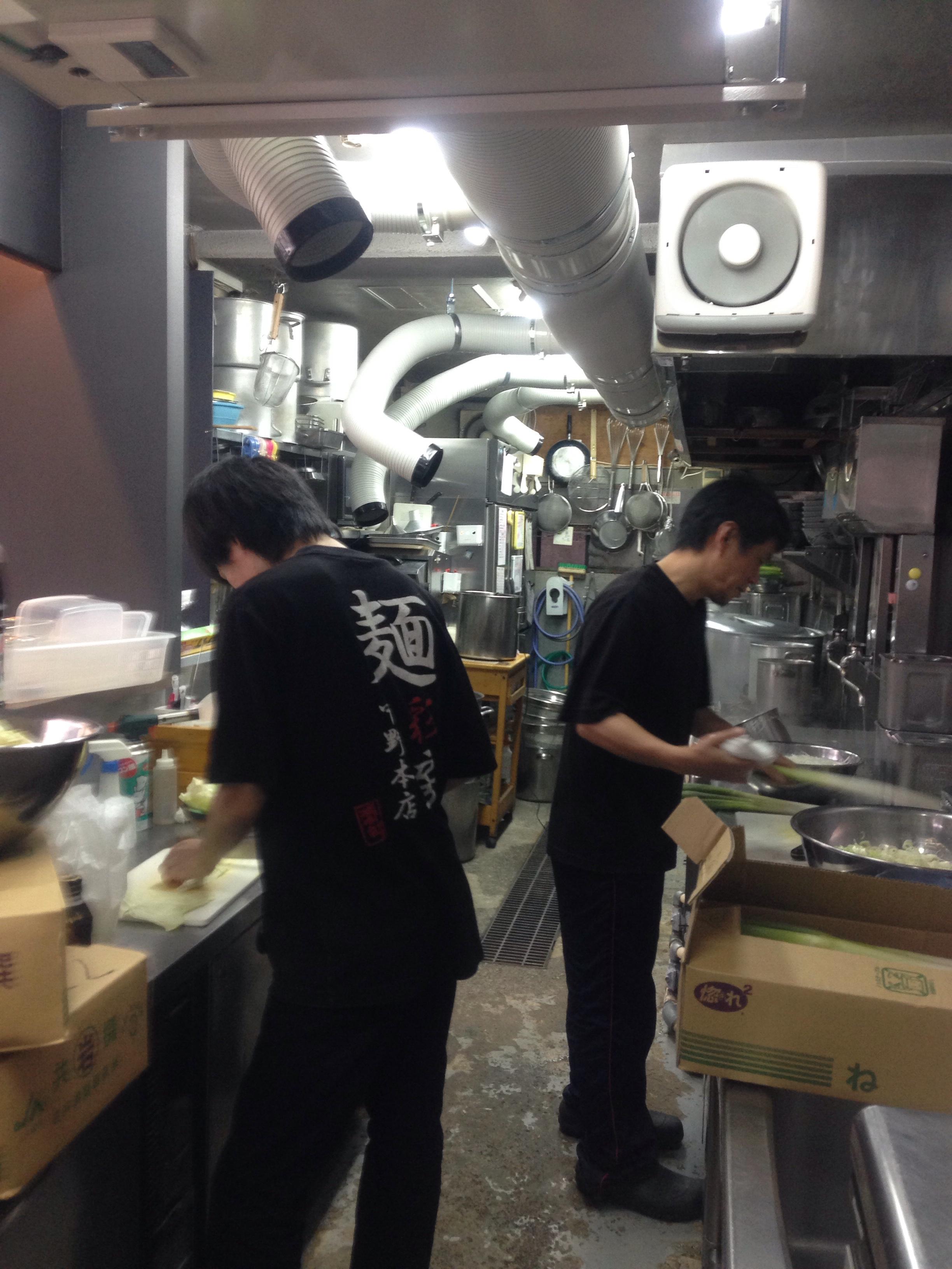 麺彩房中野本店仕込み中