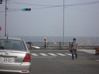 海が見えました