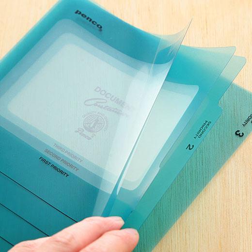 ペンコ 3ポケットファイル ディーシー A5 旅 旅行 トラベル 文房具