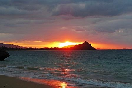新年初の夕陽DSC02941