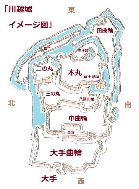 川越城イメージ図