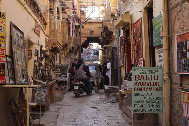 インドの路地裏