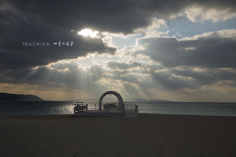 オクマビーチの夕景