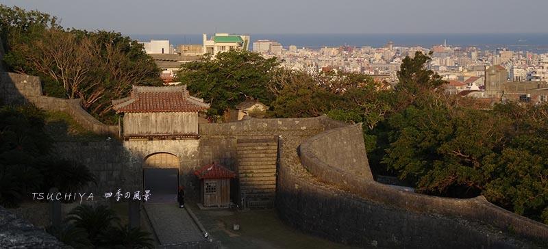 首里城から見る那覇