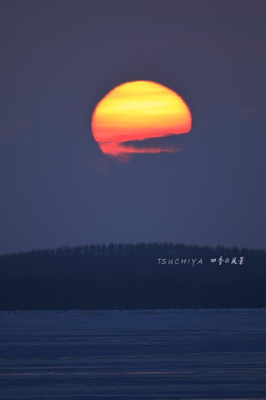 野付の夕日