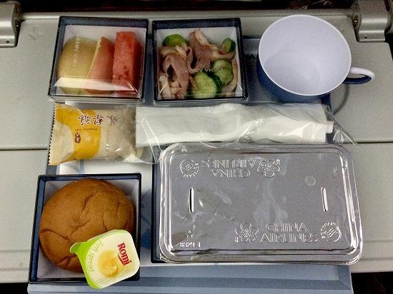 機内食01@China Airlines 2014年11月21日