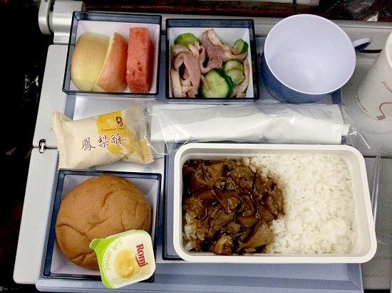 機内食02@China Airlines 2014年11月21日