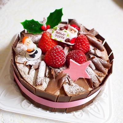 生チョコデコレーションケーキ01@フランス菓子 シェひらぬま 2014年
