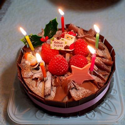 生チョコデコレーションケーキ02@フランス菓子 シェひらぬま 2014年