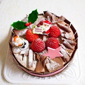 生チョコデコレーションケーキ03@フランス菓子 シェひらぬま 2014年
