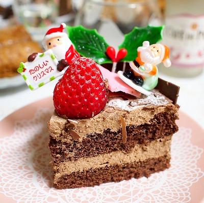 生チョコデコレーションケーキ07@フランス菓子 シェひらぬま 2014年
