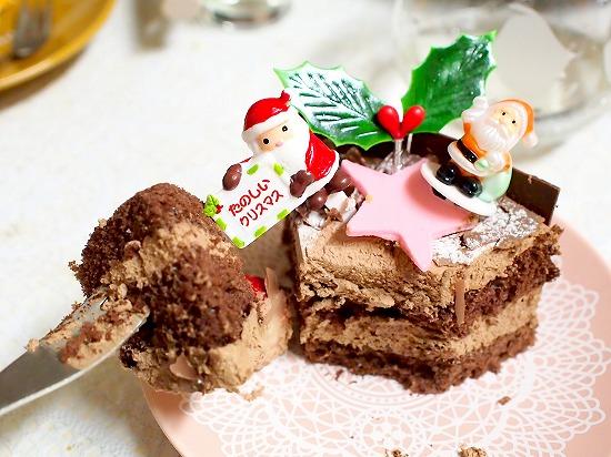 生チョコデコレーションケーキ08@フランス菓子 シェひらぬま 2014年