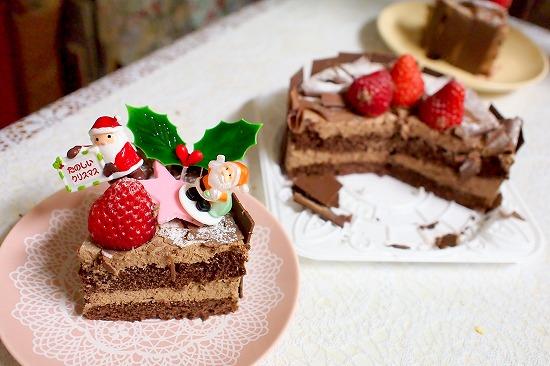 生チョコデコレーションケーキ05@フランス菓子 シェひらぬま 2014年