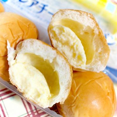 薄皮 レアチーズクリームパン05@ヤマザキ