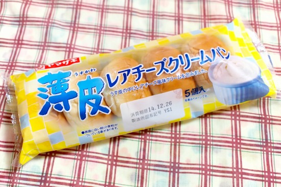 薄皮 レアチーズクリームパン01@ヤマザキ
