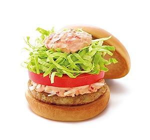 期間限定 ソイ野菜バーガー オーロラソース04@MOS BURGER