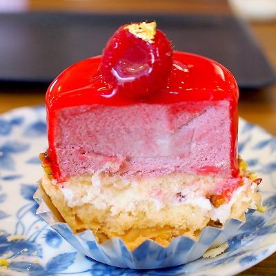 今月のケーキ(バラのムース)03@お菓子工房PONY_2015年06月