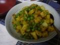 ジャガイモとグリンピースのサブジ