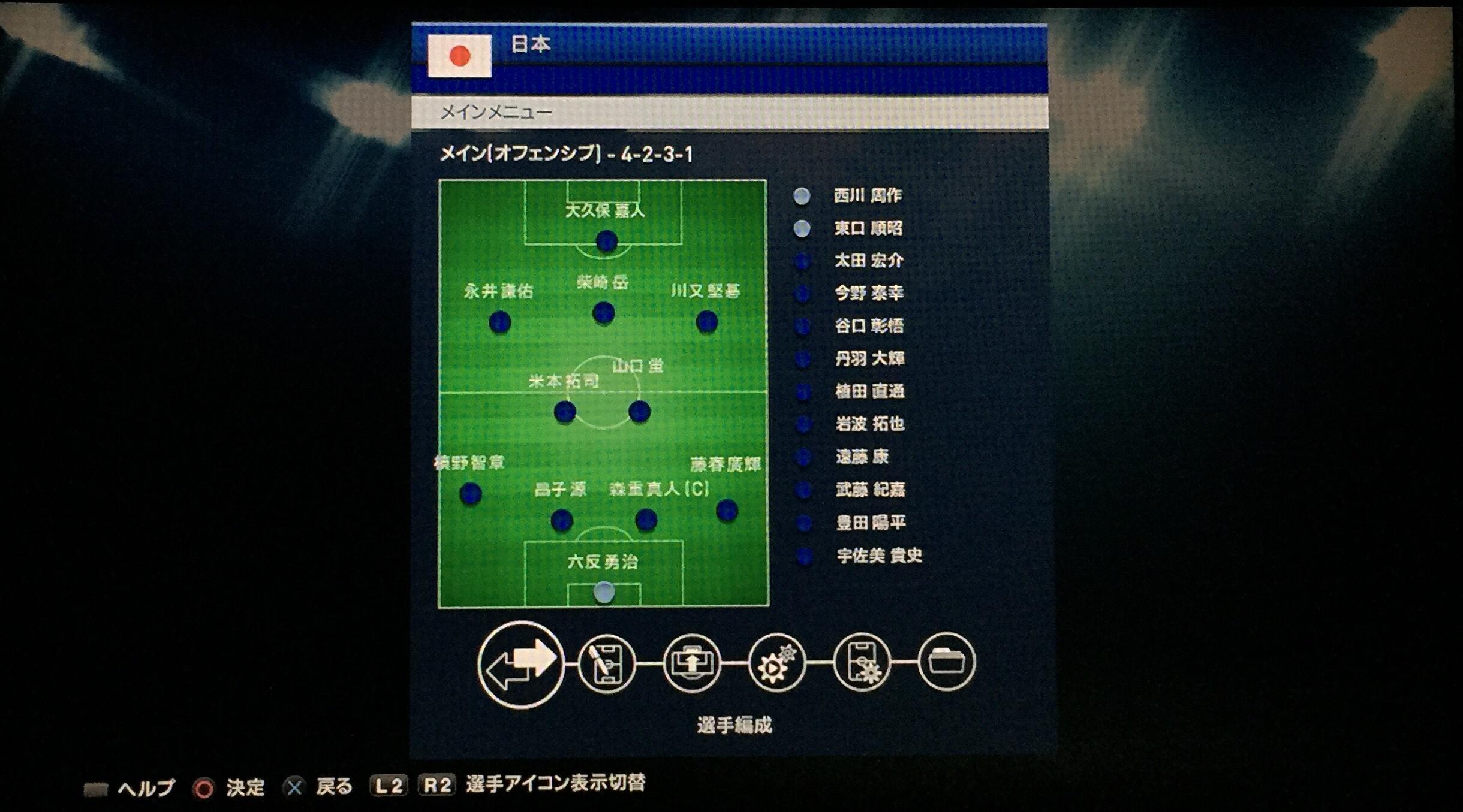 日本代表国内合宿組2