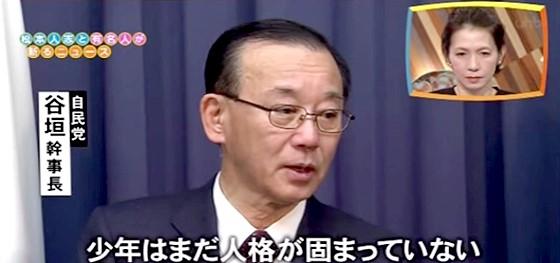ワイドナショー画像 谷垣幹事長が実名報道の週刊新潮を批判