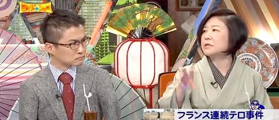 ワイドナショー画像 山口恵以子 宗教に対して不熱心な時代になるまでテロの解決はない 2015_01_18