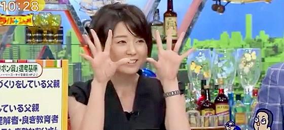 ワイドナショー画像 秋元優里アナ パパとママの子育て感に違いがあることも 2015_06_07