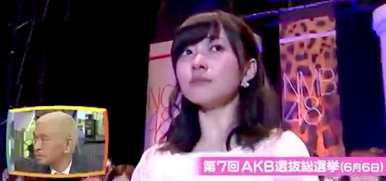 ワイドナショー画像 第7回AKB総選挙で1位の指原莉乃が発表される瞬間 2015_06_14