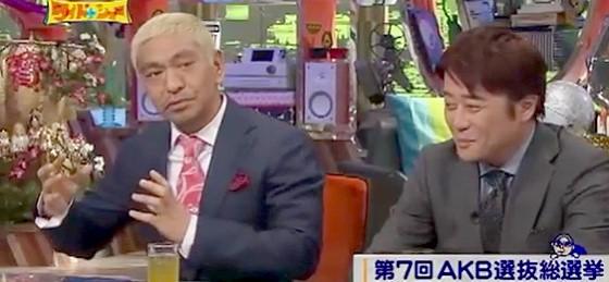 ワイドナショー画像 松本人志 AKBはゼロ票になった20年後からが本当の勝負 2015_06_14