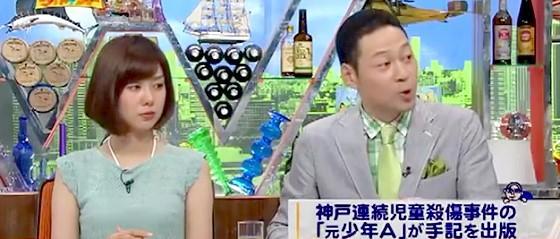 ワイドナショー画像 東野幸治 遺族による太田出版「絶歌」の差し止め要求を尊重 2015_06_14