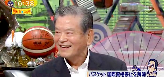 ワイドナショー画像 川淵チェアマン バスケットボール国際試合に出場可能へ!渡辺恒雄との確執や前園真聖の功績を語る 2015年6月28日