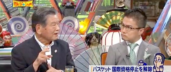 ワイドナショー画像 川淵チェアマン 乙武洋匡 「バスケットボールは部活が盛んで人気なのにプロが育たないことが不思議」 2015年6月28日
