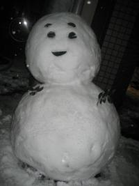 150103朝さんぽ⑥雪だるま