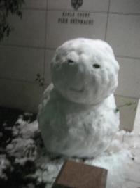 150103朝さんぽ⑦雪だるま