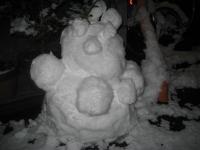 150102朝さんぽ④雪だるま