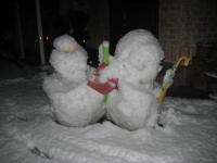 150103朝さんぽ②雪だるま