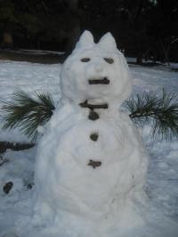 150104御所さんぽ⑪雪だるま