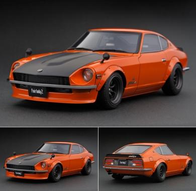 IG0219_1_18_Nissan_Fairlady_Z432-R__PS30__Orange___LINE_UP___ignition_model_-_すべてはミニチュアカーコレクターのために。