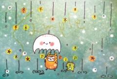 ポストカード_雨