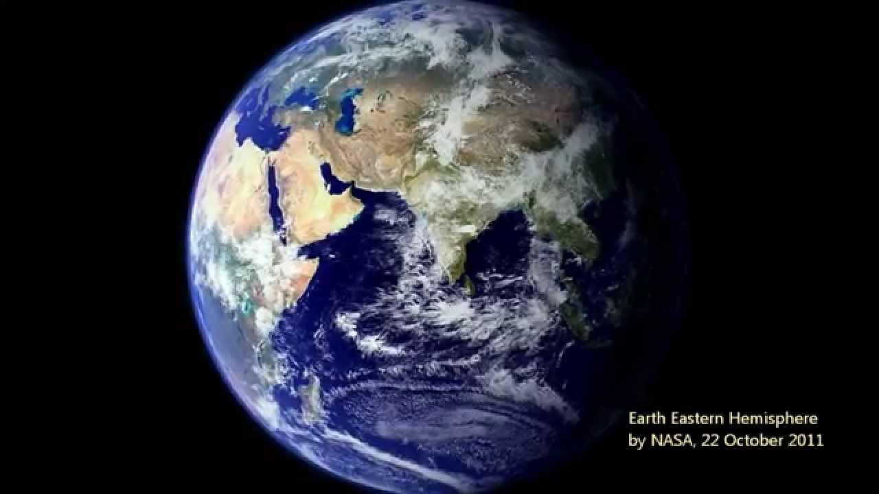 アポロから見た地球アフリカ