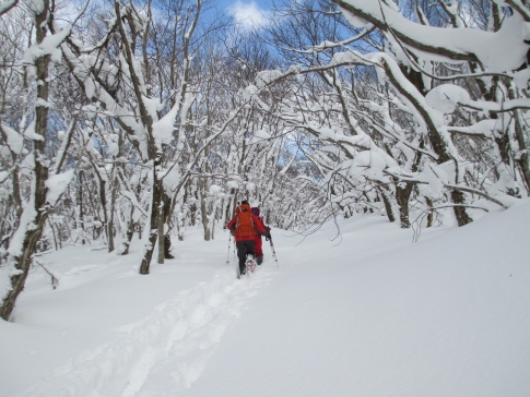 道後山スノーハイキング 沈 014