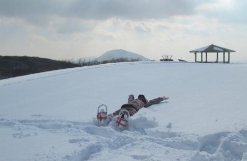 道後山スノーハイキング 沈 025-001