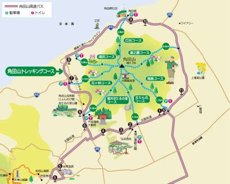 角田山マップ