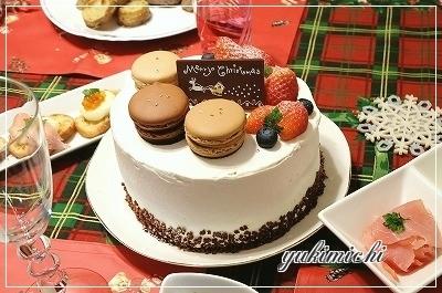 2014年クリスマスケーキ☆プレート付き
