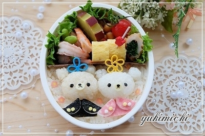 リラ&コリラ風のお雛様☆アップ