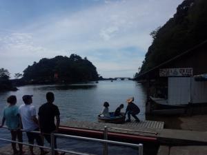 矢島・経島たらい舟体験