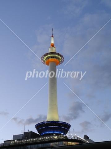 3752949 薄暮の京都タワー