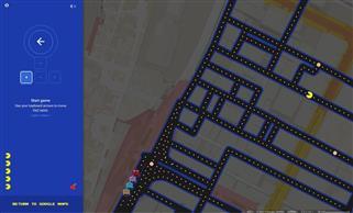 【なんと!】グーグルマップをひらくとパックマンが出来るよ!【ほんとにできた】