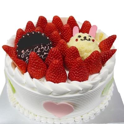 アニマルケーキのうさちゃん苺バージョン